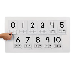 Nasco Ten Frames Magnetic Number Cards