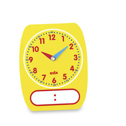Write-on/Wipe-off Clock Dials