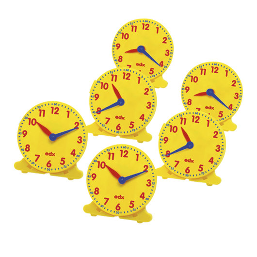 Set of 6 Student Clocks