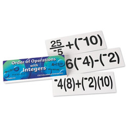 Order of Operations with Integers Flash Cards