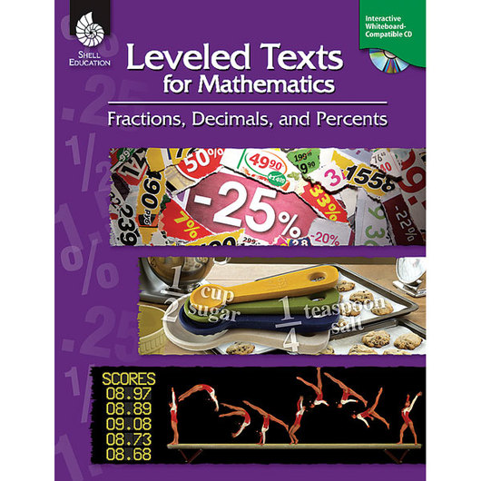 Leveled Texts for Mathematics - Fractions, Decimals, and Percents Book & CD