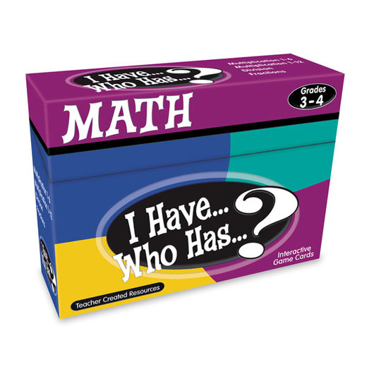 I Have... Who Has...? Math Game - Grades 3-4