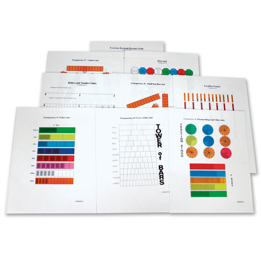 Fraction Bars® Game Mat Transparencies