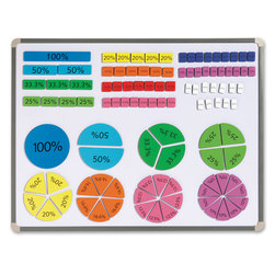 Magnetic Tiles & Circles Set, Percents