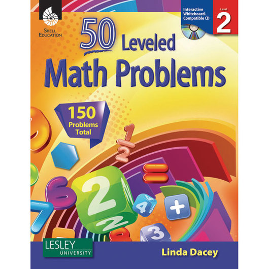 50 Leveled Math Problems Book & CD-ROM - Level 2