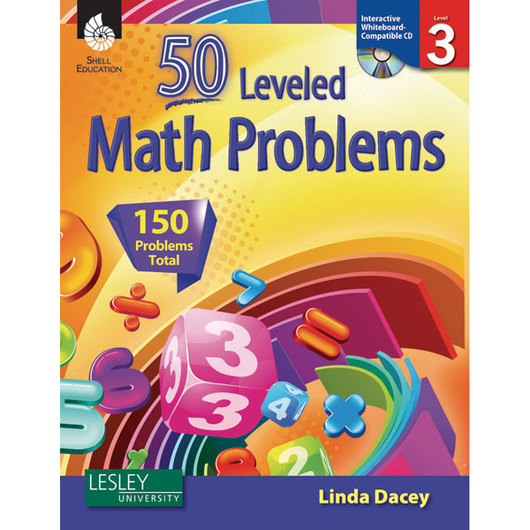 50 Leveled Math Problems Book & CD-ROM - Level 3