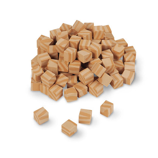 Wood-Like Foam Base 10 Blocks - Pkg. of 100 Unit Cubes