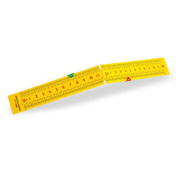Folding Elapsed Time Ruler