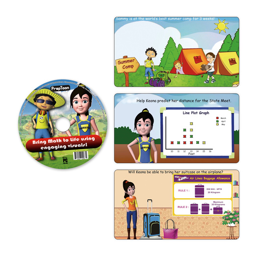 PrepToon Common Core Math Animation Activities CD-ROM