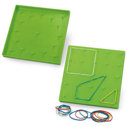 Straight-Pin Double-Sided Geoboard