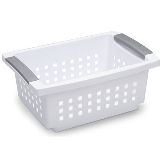 Sterilite® Stacking Basket - Small - 12-1/2 in. L x 8-5/8 in. W x 5-3/8 in. H