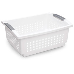 Sterilite® Stacking Basket - Large - 17-1/8 in. L x 12-7/8 in. W x 7-1/4 in. H