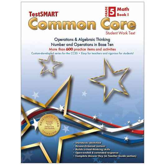 TestSMART® Common Core Student Work Text - Grade 5, Book 1