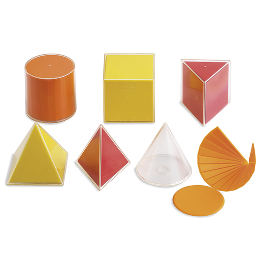 Introductory 2-D/3-D Geometric Solids - Set of 6