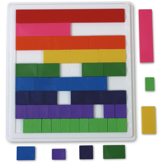 Blank Fraction Tiles with 30 Trays