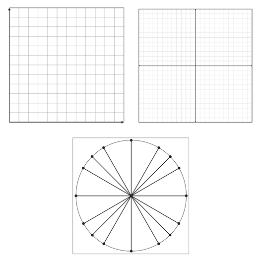 Static Cling Graph Grid - Set of 3