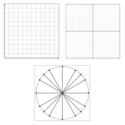Static Cling Graph Grid, Four-quadrant grid