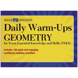 Daily WarmUps for TEKS, Geometry