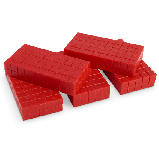Base 10 Rods - Pkg. of 50 - Red