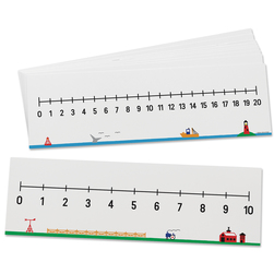 Write-On/Wipe-Off Number Lines, Numbers 0-10-0-20