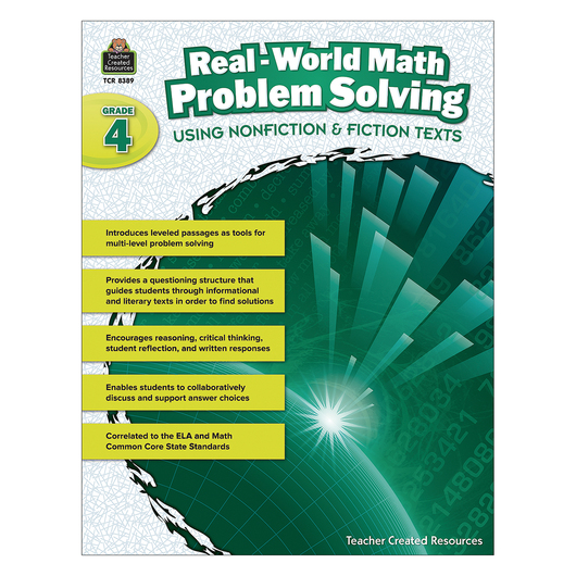 Real-World Math Problem Solving Book - Grade 4