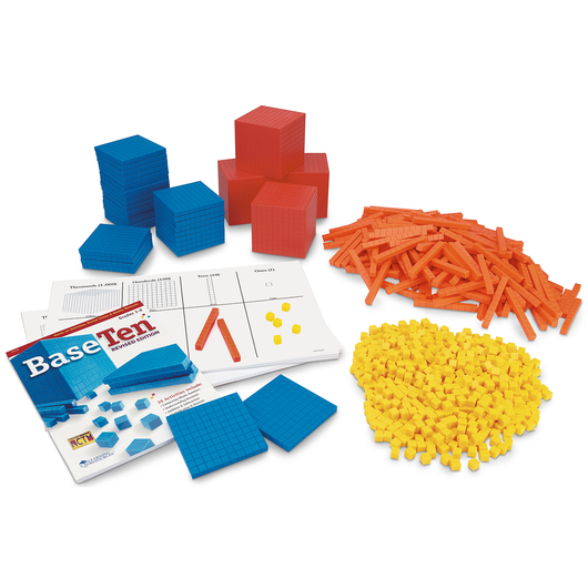 Nasco Super Classroom Base 10 Set - Differentiated