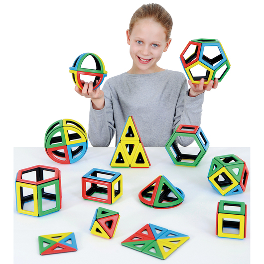 Magnetic Polydron Mathematics Set - 118 Pieces