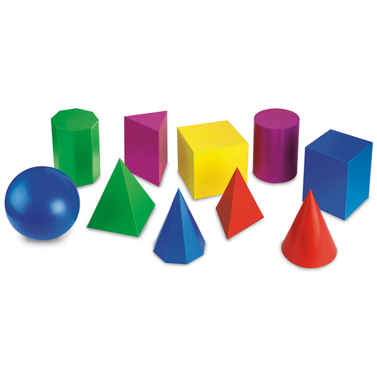 Geometric Shapes - 8 in. - Set of 10