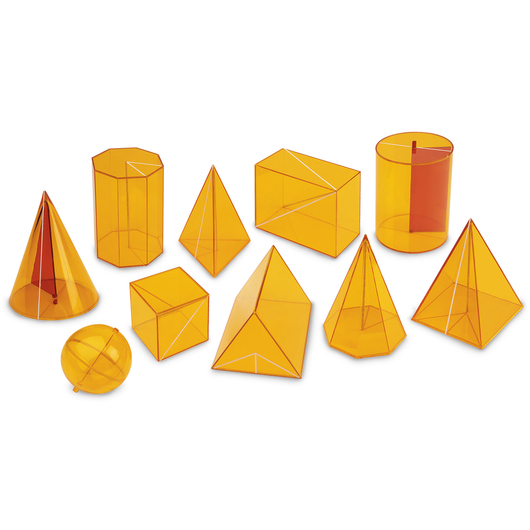 Transparent Geometric Shapes - Set of 10