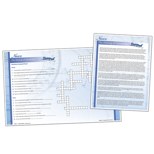Nasco The History of Geometry TearPads™ - Set of 2 - 50 Sheets Per Pad