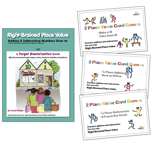 Right-Brained Place Value Book and Game Set