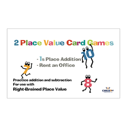 Right-Brained Place Value Subtracting 1's Cards - 4-1/4 in. x 2-3/4 in.