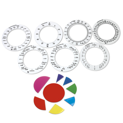Transparent Fraction - Circles and Rings Set