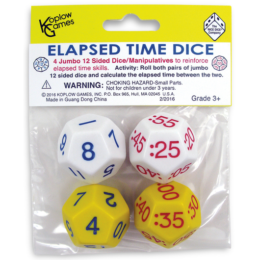 Elapsed Time Dice - Set of 4