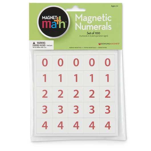 Magnetic Numerals 0-9