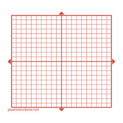 Graphing Post-It® Notes - X & Y-Axis - 10 in. x 10 in. Total Grid Size - Set of 4