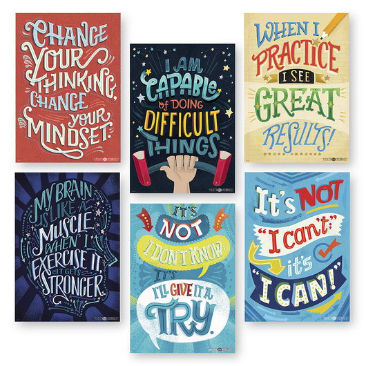 What's Your Mindset? Inspire U Poster Set of 6