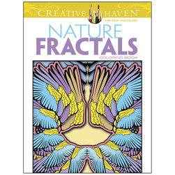 Creative Haven Coloring Books, Nature Fractals