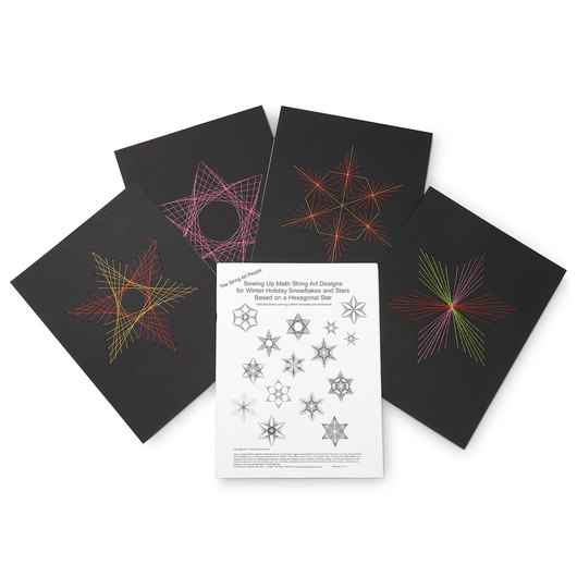 Sewing Up Math Kit - Winter Holiday Snowflakes and Star String Art Designs