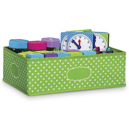 Polka Dot Storage Solutions - Medium Storage Bin - Lime