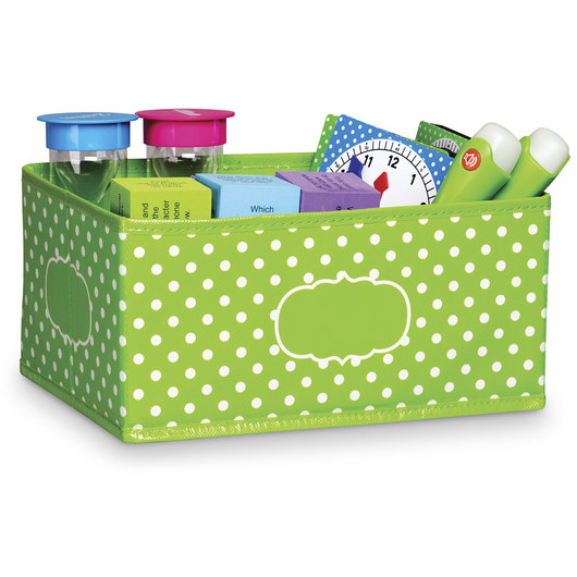 Polka Dot Storage Solutions - Small Storage Bin - Lime