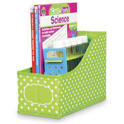 Polka Dot Storage Solutions - Book Bin - Lime