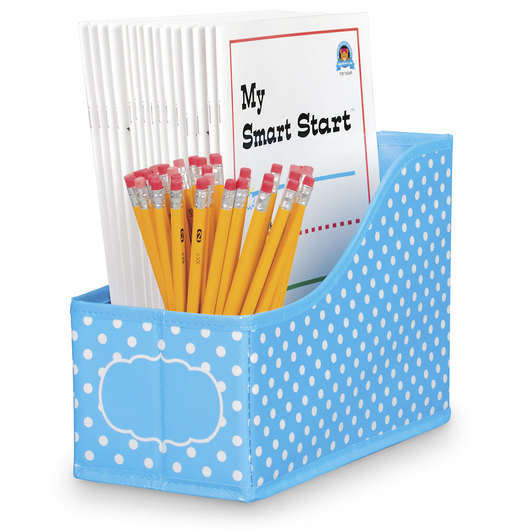 Polka Dot Storage Solutions - Book Bin - Aqua