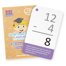 Math Flash Cards, Subtraction