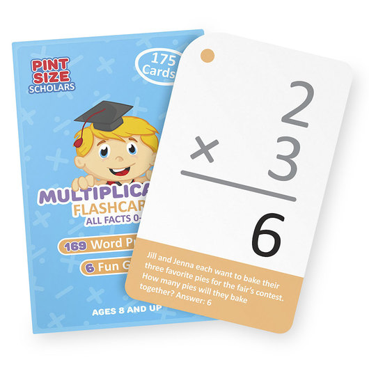 Math Flash Cards - Multiplication