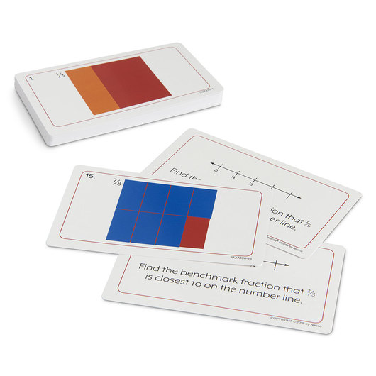 Nasco Fraction Squares Activity Cards - Grades 1-3