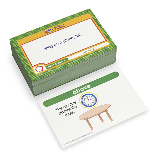 NewPath Learning® Math Vocabulary Builder Cards - Grades 1-2