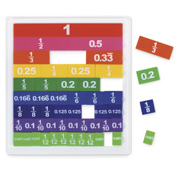 Double-Sided Fraction/Decimal Tiles - 51 Pieces