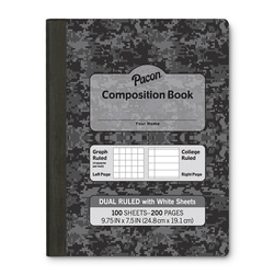 Pacon® Dual-Ruled Composition Book
