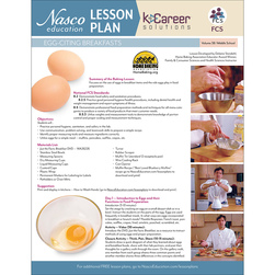 Egg-Citing Breakfasts / Eggs - A Culinary Tool - Lesson Plan Volume 38
